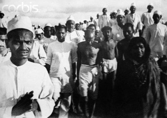 durante la Marcha de Sal, marzo-abril 1930. (Wikimedia Commons / Walter Bosshard)
