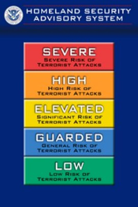 Homeland Security Threat Levels