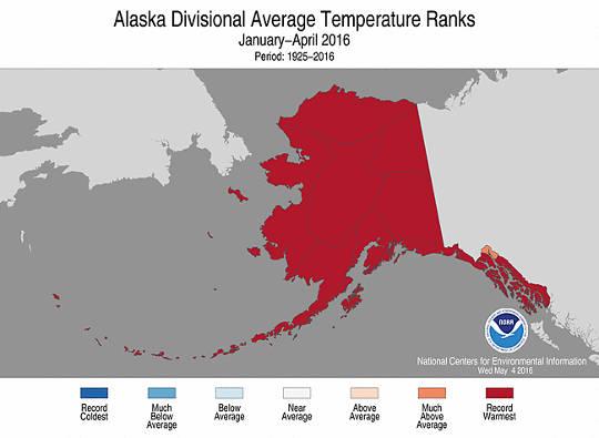 alaska temperaturer
