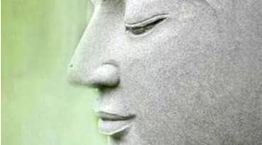 Buddha smilende
