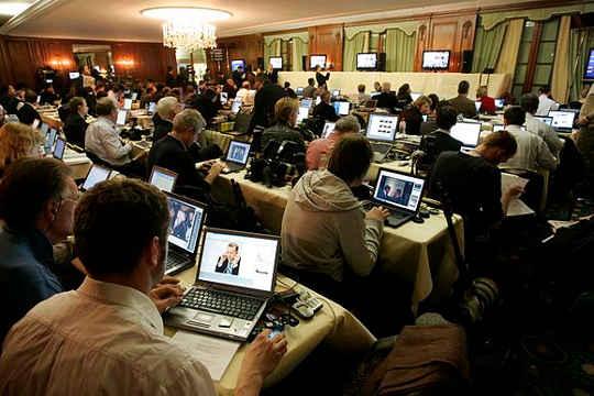 ویکی پدیا قادر به پوشش اخبار مانند هر خبرخوان است. عکس توسط کای Mörk، آزادانه تحت CC BY 3.0 (آلمان) مجوز.