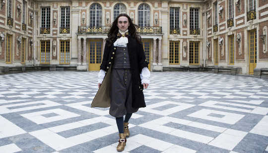 Louis XIV in new TV drama Versailles. BBC