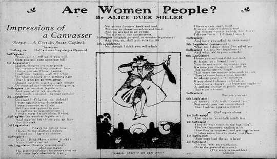 ¿Son las mujeres las personas? El mensaje de Alice Duer Miller sigue sonando cierto