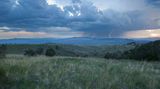 Paglilipat ng grasslands sa Continental Divide wilderness study area ng New Mexico. Image: Bureau of Land Management sa pamamagitan ng Flickr