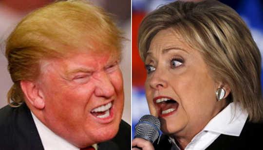 چگونه ترس از پیام های کمپین های Trump و Clinton بود