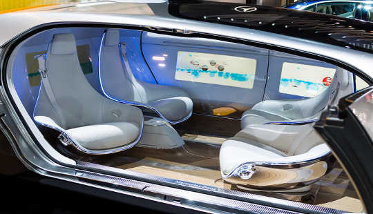 Let the robot drive. A concept car interior designed around autonomy. gmanviz/flickr, CC BY-NC-ND