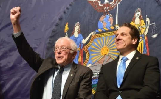 New York Governor Andrew Cuomo Alongside Bernie Sanders Announce Free Tuition Plan