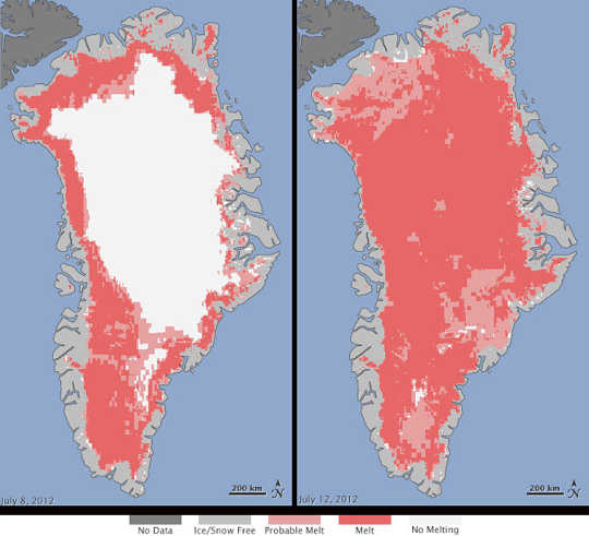 جرينلاند تذوب 12 16