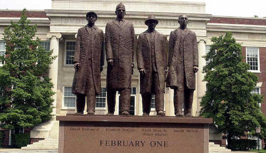 When the Greensboro Four launched their sit-in protest, companies tended to stay neutral on social issues. Cewatkin via Wikimedia Commons, CC BY-SA