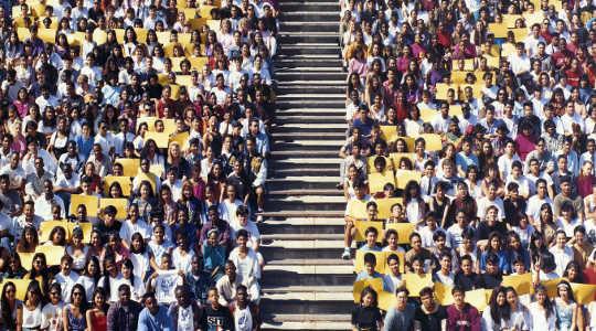 來自加利福尼亞州聖地亞哥莫爾斯高中的1992班級照片。 Ewen Roberts / flickr,CC BY