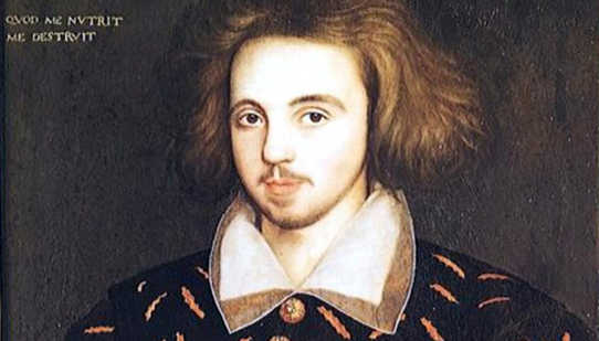 Un posible retrato de Christopher Marlowe. (Crédito: Anónimo a través de Wikimedia Commons)