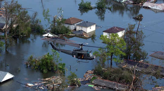 Thousands of people lost their homes in floods that devastated New Orleans in 2005. Image: Jocelyn Augustino/FEMA via Wikimedia Commons
