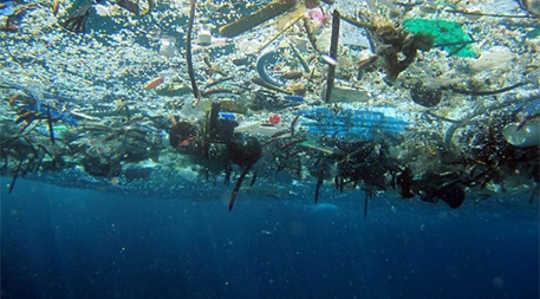 Plastik atıklar, kaldırımlar için uluslararası işbirliği gerektiren dünya okyanuslarına yönelik tehditlerden bir tanesidir. Fotoğraf NOAA izniyle