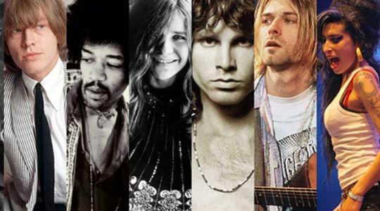 Brian Jones, Jimi Hendrix, Janis Joplin, Jim Morrison, Kurt Cobain e Amy Winehouse sono tutti morti a 27 anni