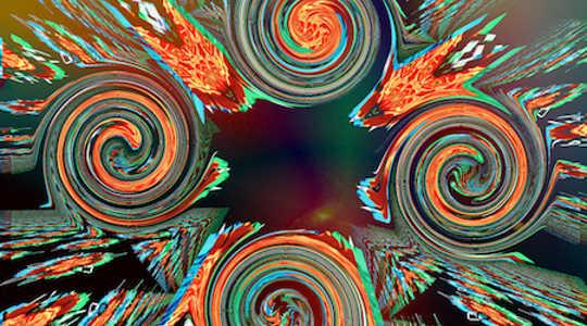 """bijgesneden afbeelding van """"Wheels on Fire"""" door Brian Varcas"""