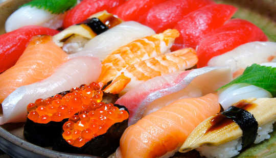 Japanese people are more likely to crave sushi because it's what they eat regularly. Kana Hata/Flickr, CC BY