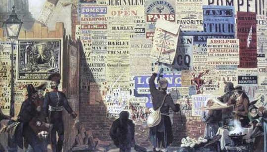 ג'ון אורלנדו פארי, 'סצנת רחוב לונדונית', 1835. © אוסף אלפרד דנהיל (Wikimedia Commons)