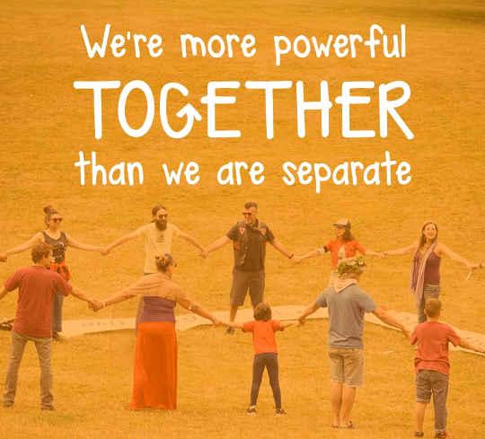 Vi är mer kraftfulla tillsammans än vi är separata