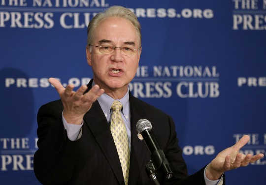 The Potential Costs Of A Secretary Tom Price On US Healthcare