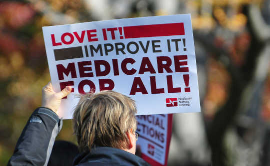 Thunderous Applaus hilser Sanders 'Call for Medicare-for-All