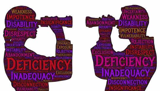 Laisser aller de conflit intérieur et de bagage de rapport