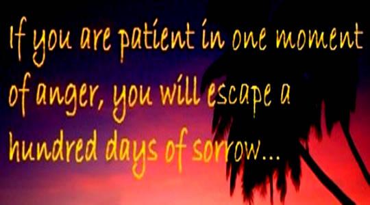 El regalo de la paciencia: la paciencia protege la puerta a la ira