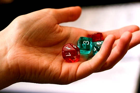 Learning Life Lessons by Playing Dice