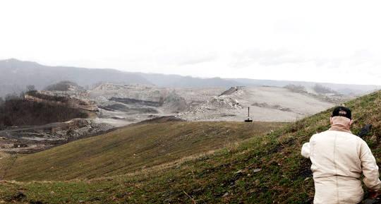 sitio de eliminación de cima de la montaña en Kayford, Virginia Occidental