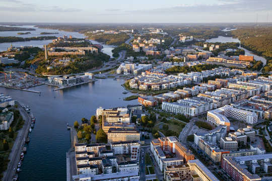 Hammarby in Stockholm is a model of environmentally friendly city development.