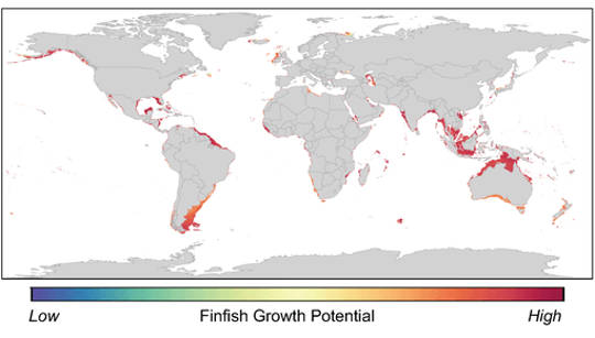 Global hotspot para sa aquaculture ng finfish.