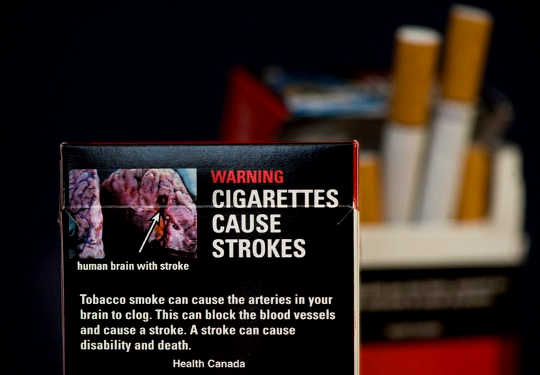 cigarette package in Canada