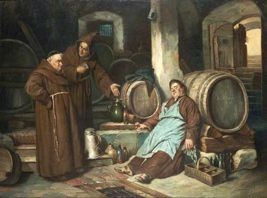 地窖中的僧侶。