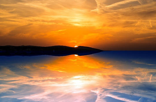 reflection sunset