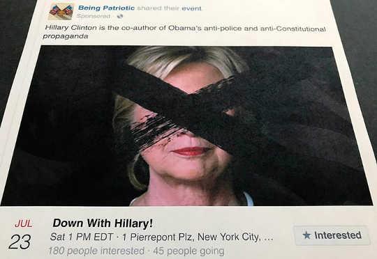 """كان """"أن تكون وطنياً"""" صفحة على فيسبوك كان يُدار من قِبل المُحرضين الروس"""