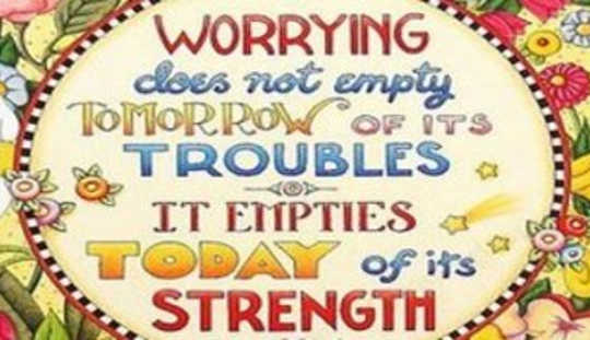 Are You Worrying?