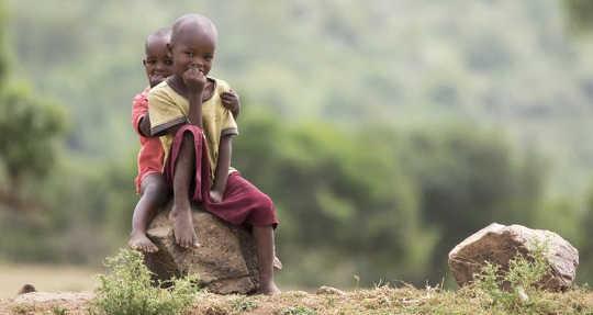 Enfants masaïs.