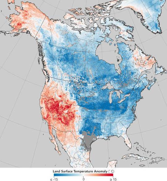 Il riscaldamento artico può causare ondate di calore prolungate o ondate di freddo