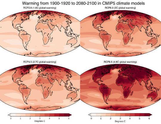 全球變暖在很大程度上取決於您居住的地方