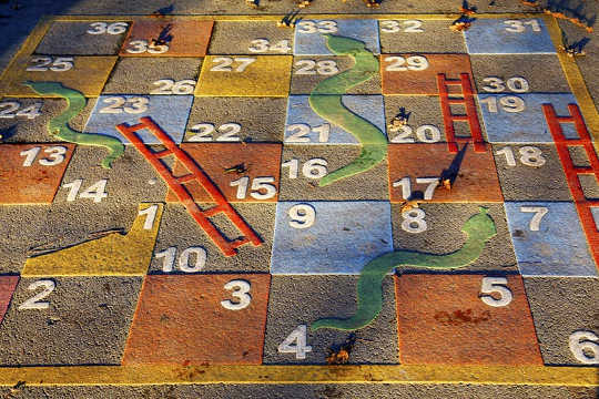 When Women Draw Spirals And Circles, Snakes And Ladders