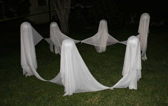 Believing in ghosts can make you a better person: A ghost dance on Halloween.