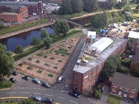 Rooftop farm in Salford, UK. (Vertical farming sounds fantastic until you consider its energy use)