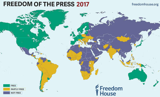 Freedom of the Press 2017 (Why covering the environment is one of the most dangerous beats in journalism)