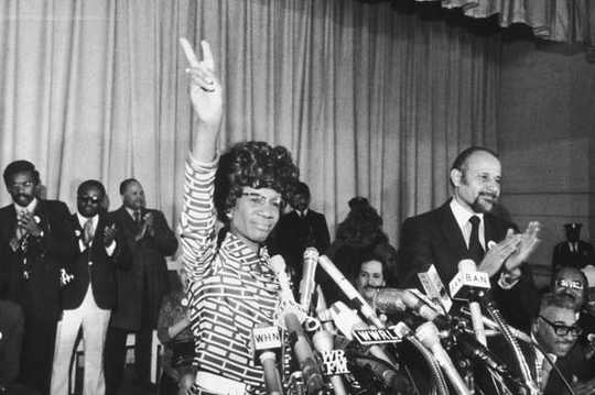 Shirley Chisholm was the first African-American Congresswoman. (women feel better when they work with other women)