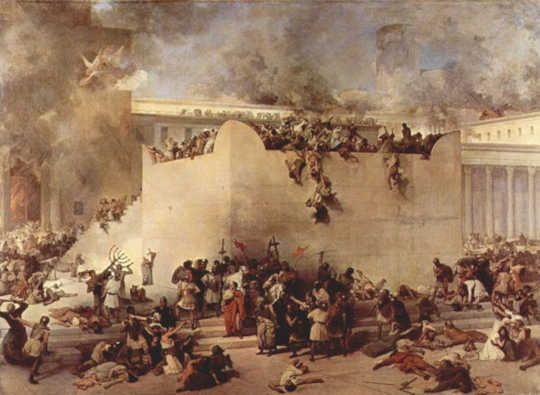 The destruction of the Temple of Jerusalem. (why hanukkah's true meaning is about jewish survival)