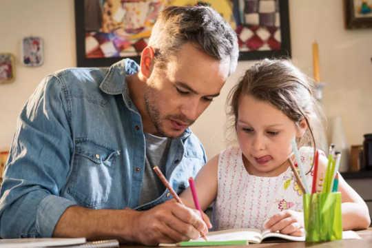 Kesejahteraan Anak-Anak Bergerak Bersama Dengan Kesehatan Mental Ayah Mereka