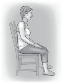 Sitting Relaxed posture
