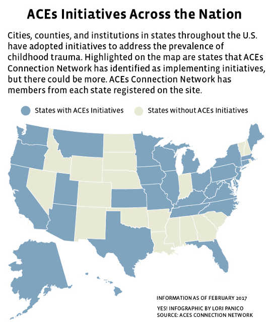 ACEs Initiatives(城鎮採用創傷知情護理減少犯罪率和中止率)