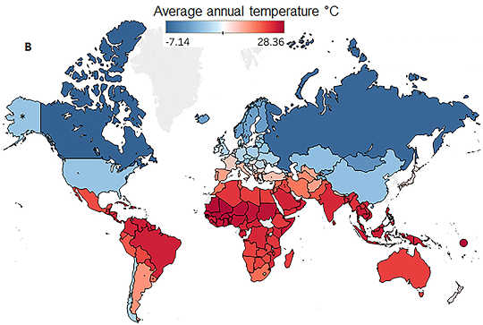 average annual temperature