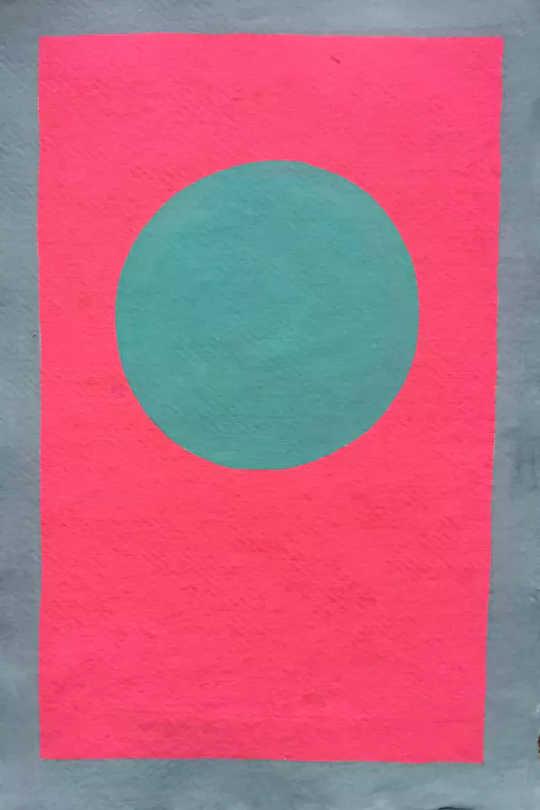 الدائرة ، الغواش على الورق ، 2015. (الأسباب المدهشة أننا نحب الفن)