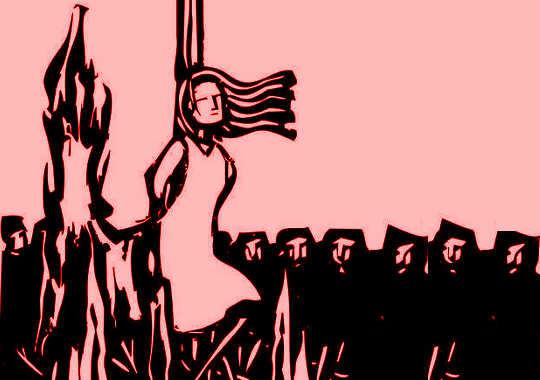 ほとんどの魔女は女性です。魔女狩りはすべて無力な者を迫害することだったからです